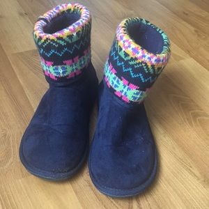 Cute Ankle Blue Boots